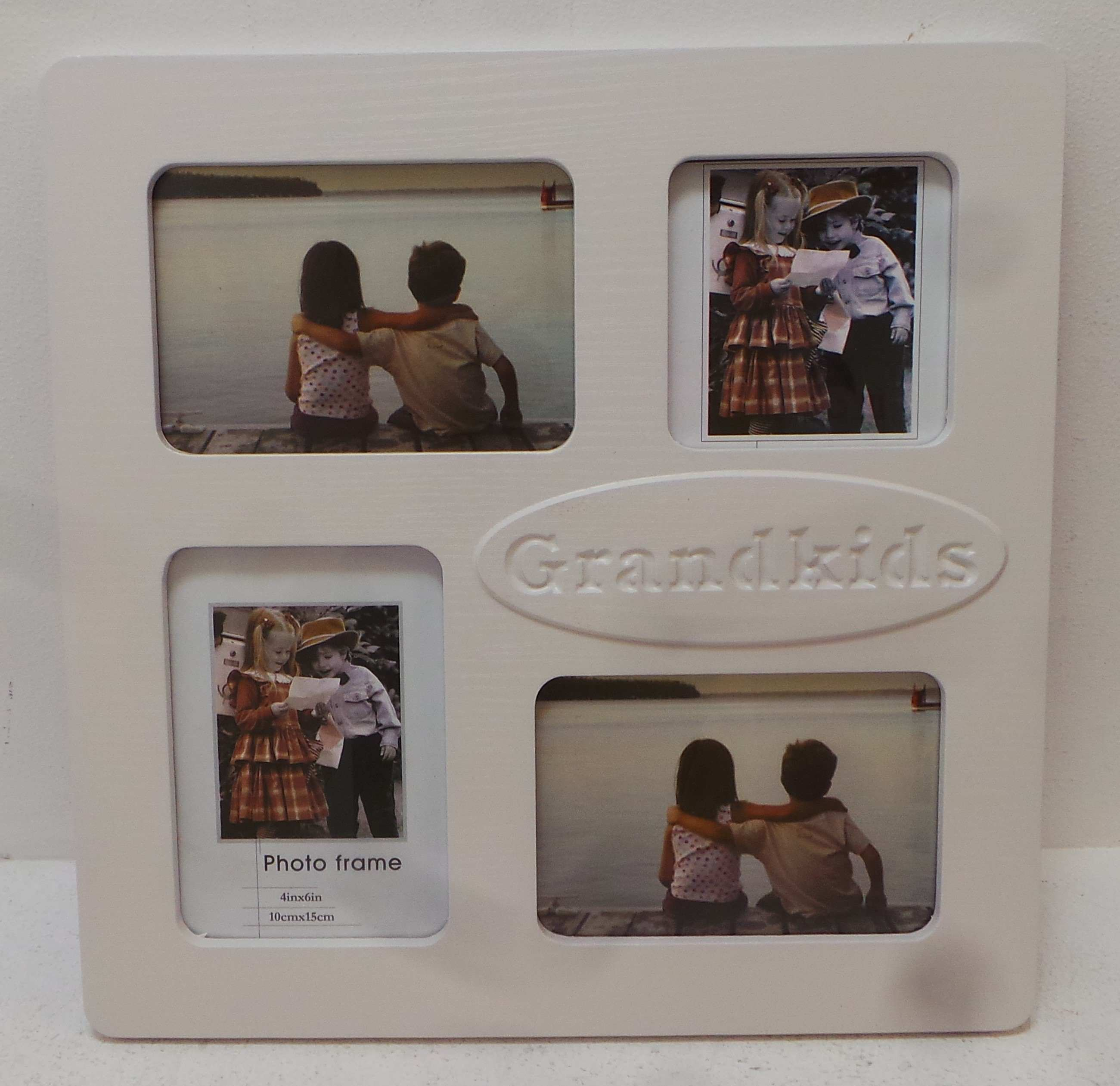Joblot of 18 Beautiful Grandkids Collage Picture Frame in White Gloss