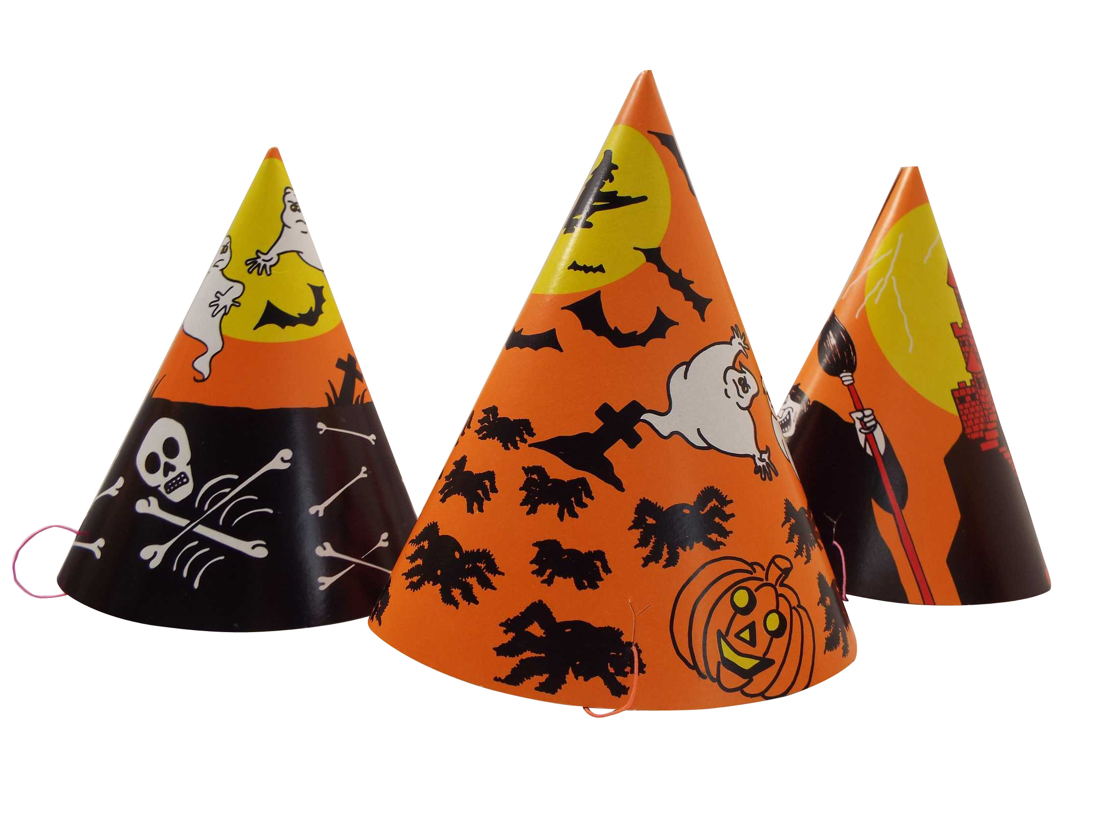 wholesale joblot of 100 sets of halloween party hats and