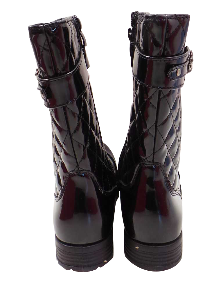 joblot of 10 pairs of reveal boots black patent